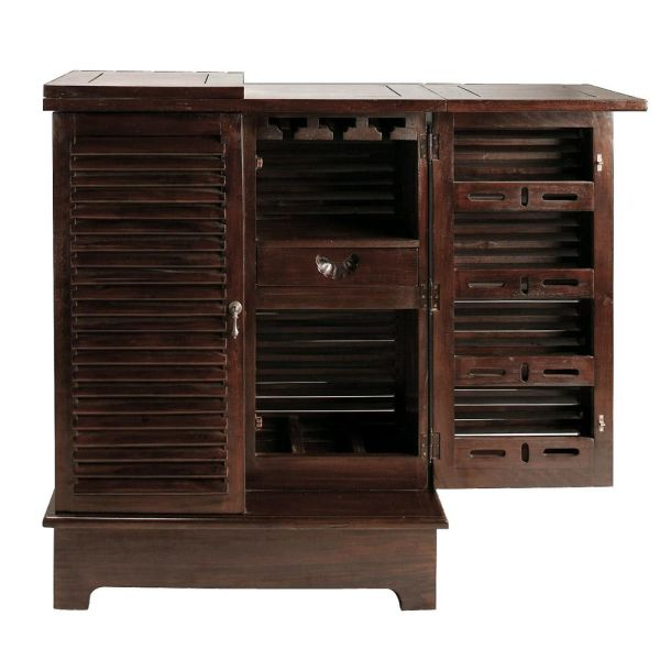 Meuble de bar en mahogany massif L 80 cm Planteur (photo)