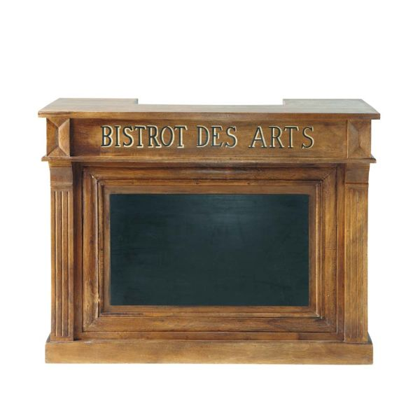 Meuble de bar en manguier massif L 132 cm Bistrot (photo)