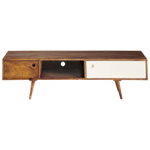Meuble tv vintage en bois de sheesham l 140 cm andersen for Meuble tv 75 cm