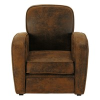 Microsuede Child's Armchair in Brown Arizona
