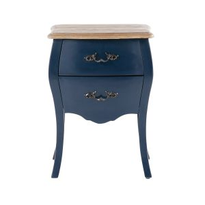 Midnight Blue 2-Drawer Bedside Table