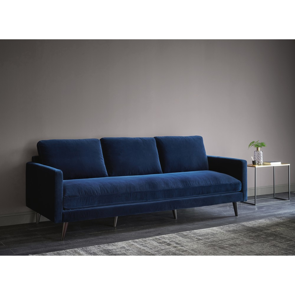 ... Midnight Blue 4 Seater Velvet Sofa. Kant