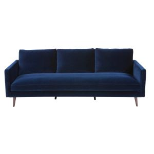 Midnight blue 4-seater velvet sofa