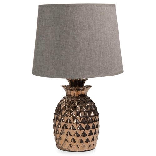 milord gold ceramic pineapple lamp h 43 cm maisons du monde. Black Bedroom Furniture Sets. Home Design Ideas
