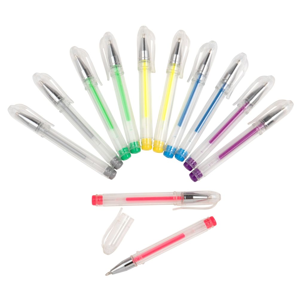 Mini stylo à billes multicolores (x12) (photo)