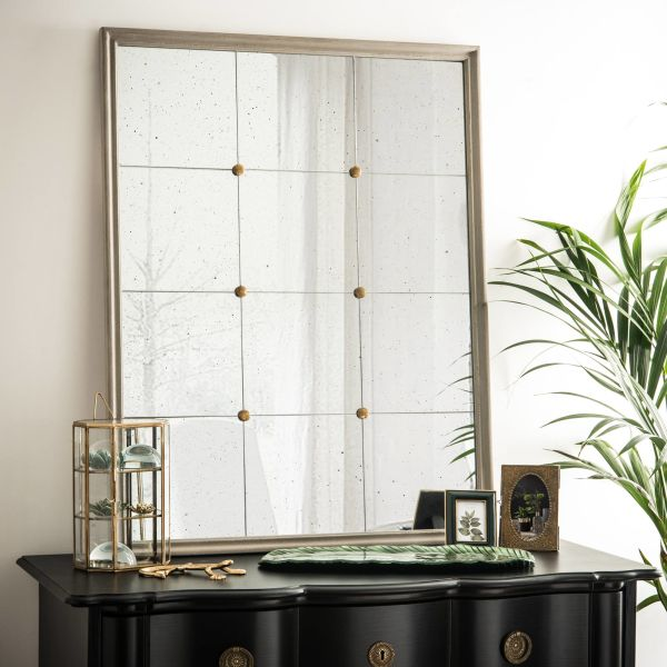 miroir vieilli achat vente de miroir pas cher. Black Bedroom Furniture Sets. Home Design Ideas