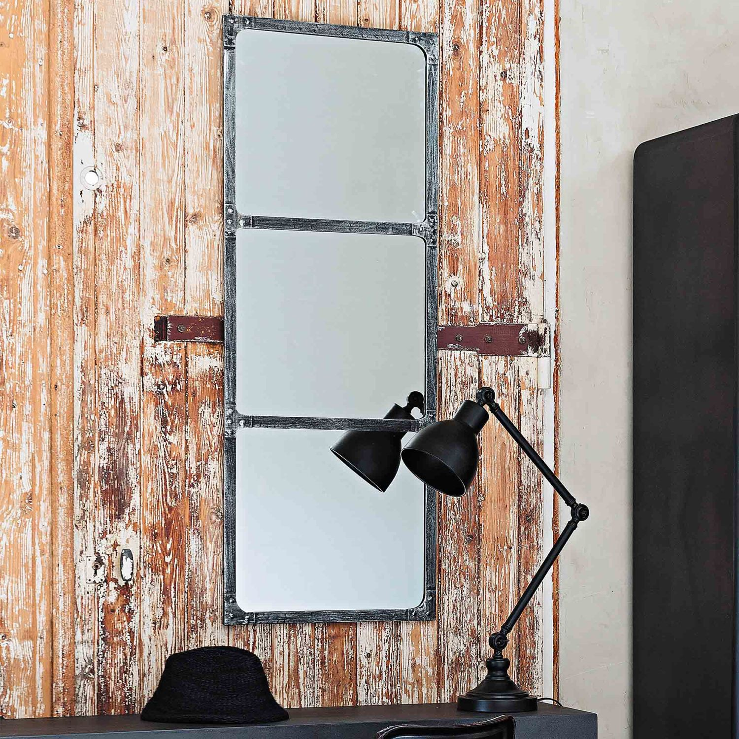 miroir en m tal effet rouille h 120 cm maisons du monde. Black Bedroom Furniture Sets. Home Design Ideas