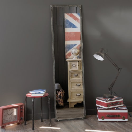 miroir en m tal effet rouille h 165 cm cargo maisons du monde. Black Bedroom Furniture Sets. Home Design Ideas