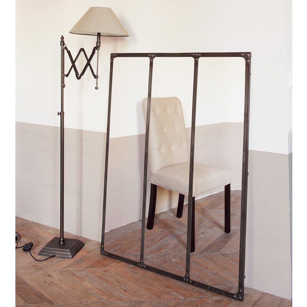 miroir en m tal effet vieilli 95x120 maisons du monde. Black Bedroom Furniture Sets. Home Design Ideas
