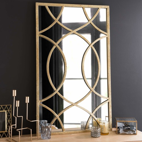 miroir en m tal h 100 cm olney maisons du monde. Black Bedroom Furniture Sets. Home Design Ideas