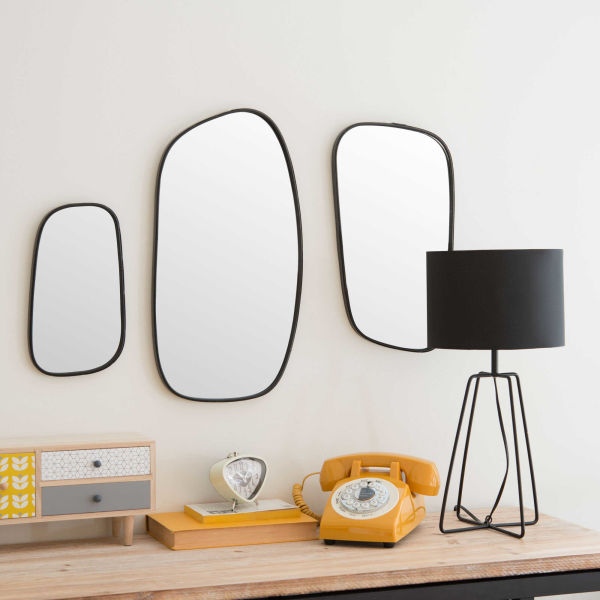 miroir mural pas cher promo et soldes la deco. Black Bedroom Furniture Sets. Home Design Ideas