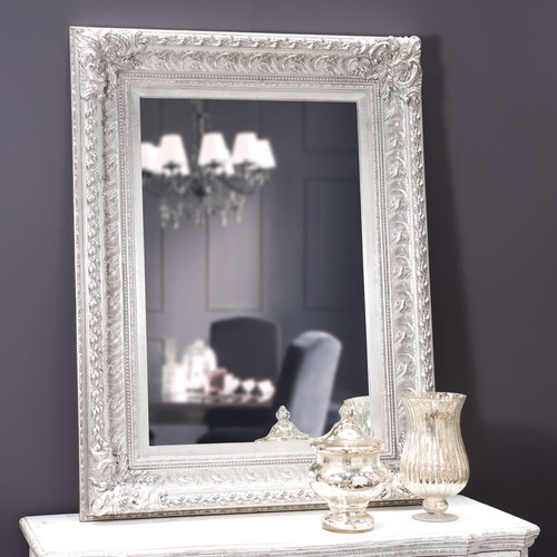 miroir marquise silver 125x95 maisons du monde. Black Bedroom Furniture Sets. Home Design Ideas