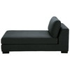 Monet linen chaise longue in charcoal grey - Terence