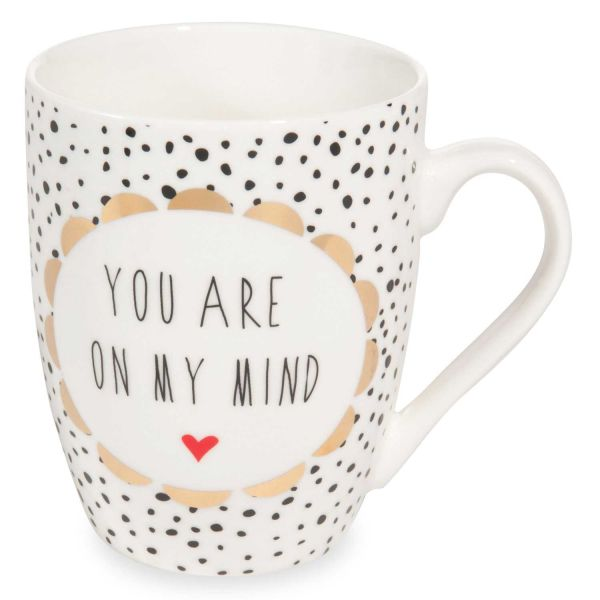 Mug à message en porcelaine LOVE