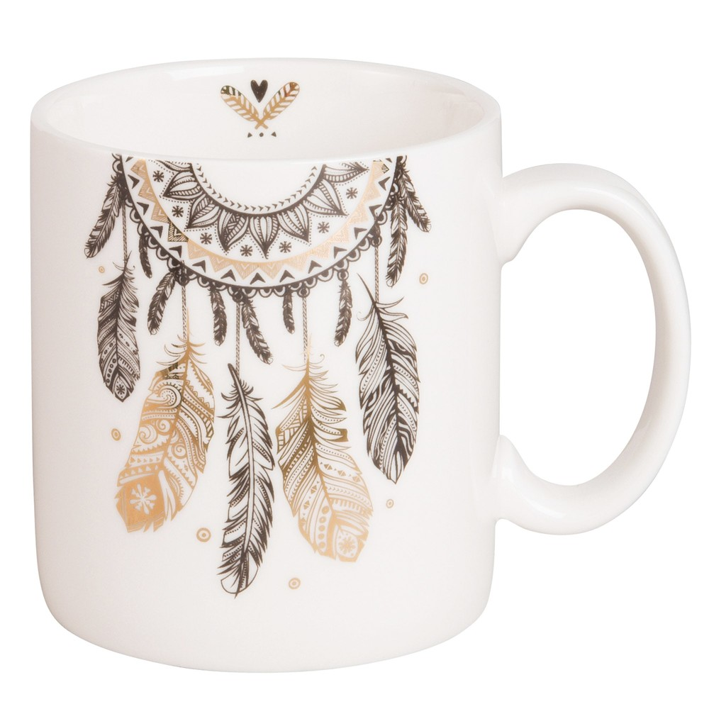 Mug attrape-rêves en porcelaine blanche (photo)