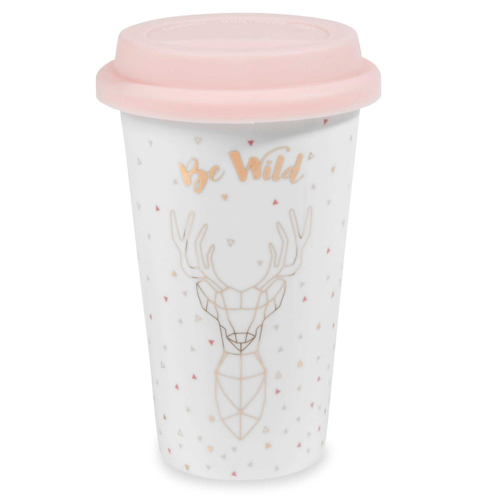 Mug de voyage en porcelaine BE WILD (photo)