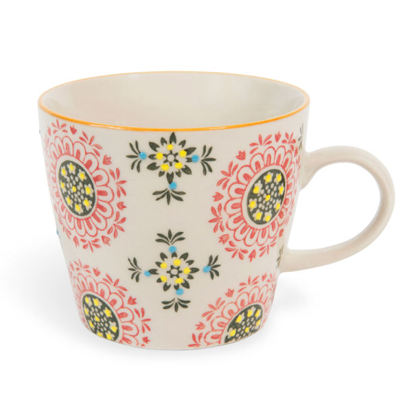 Mug en faïence orange INCA