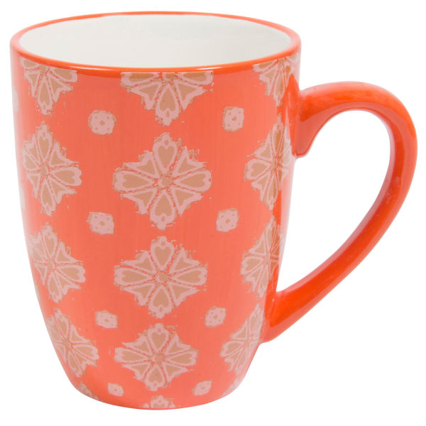 Mug en faïence orange MADALENA