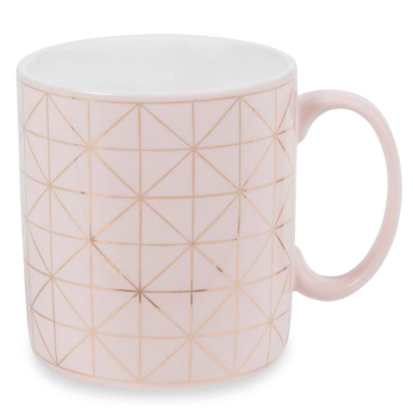 Mug en faïence rose MODERN COPPER