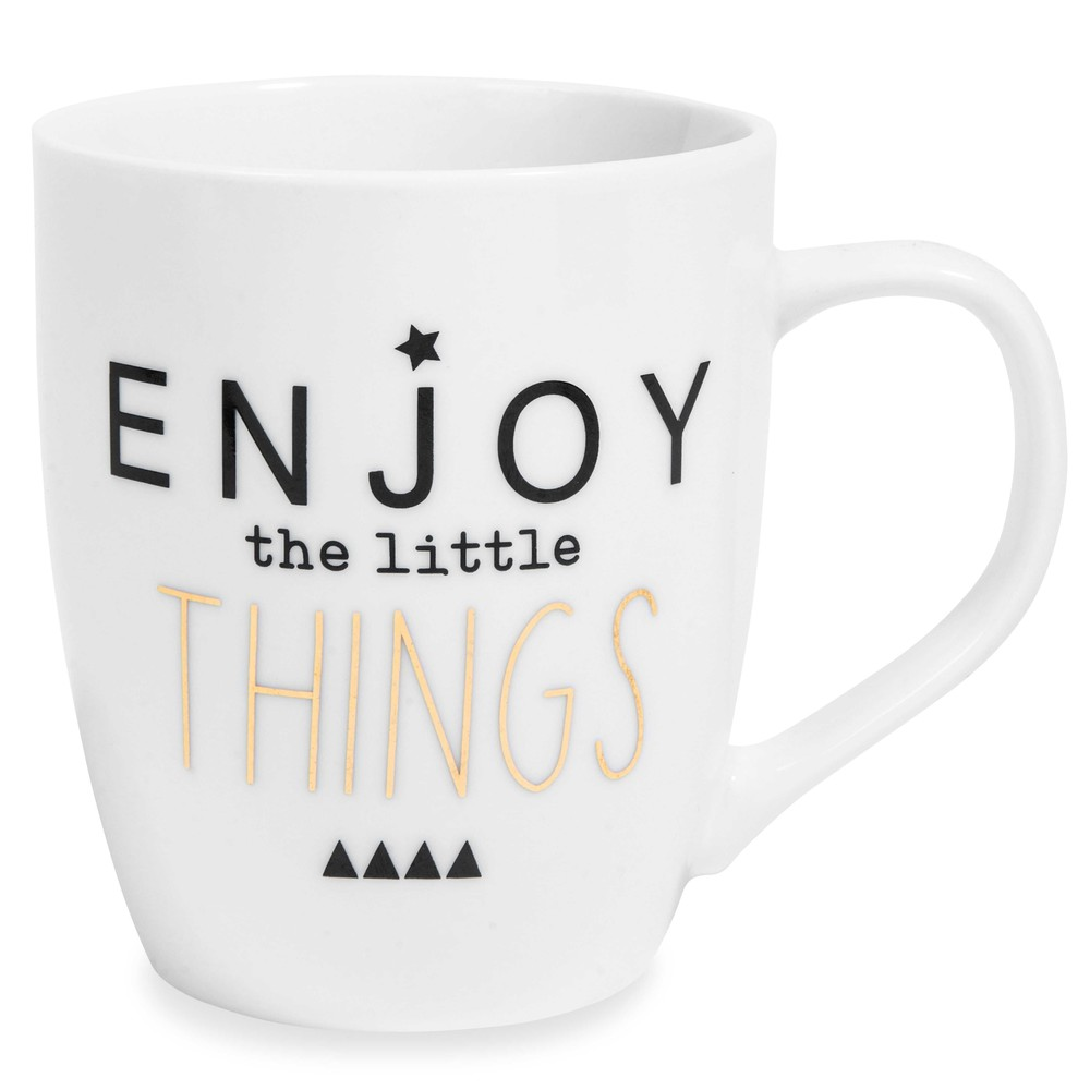 Mug en porcelaine blanc LITTLE THINGS (photo)