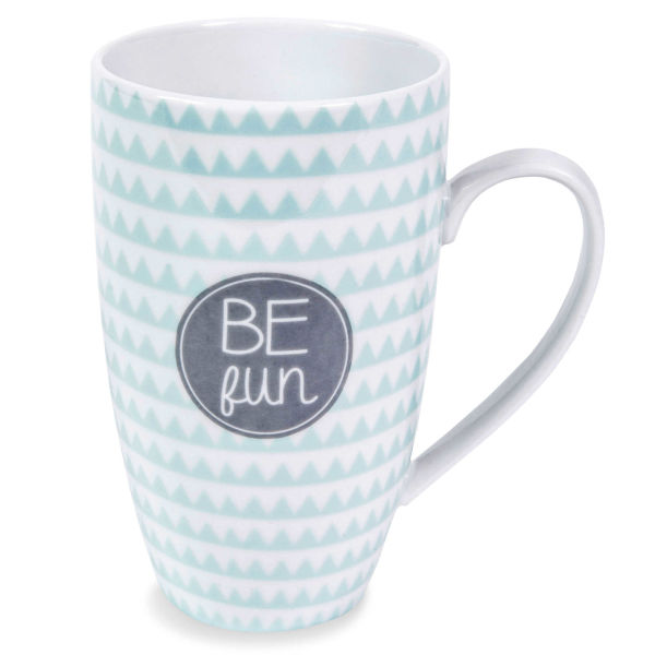 Mug en porcelaine bleue BE FUN EMMA
