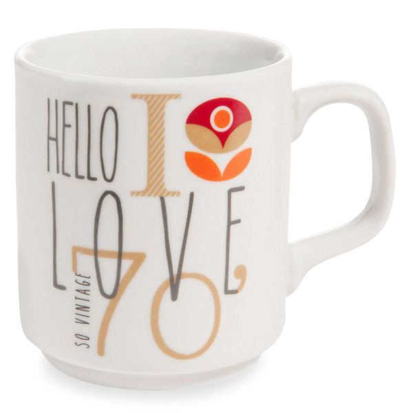 Mug en porcelaine HELLO SO VINTAGE