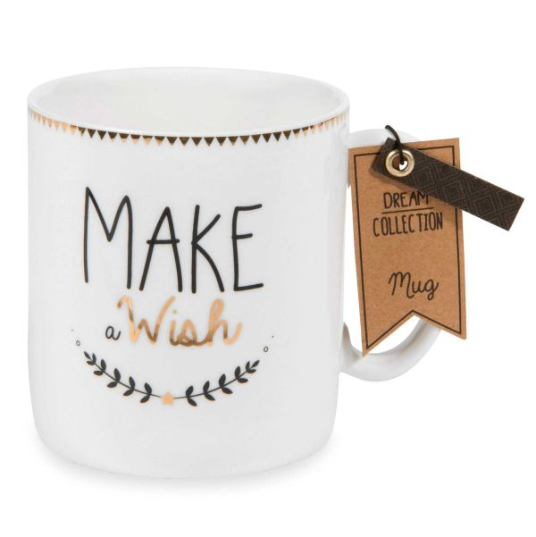 Mug en porcelaine MAKE A WISH PAN