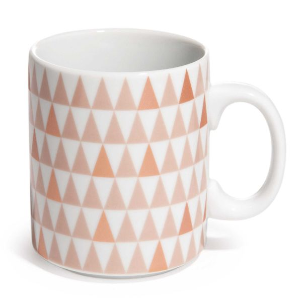 Mug motif triangles en porcelaine COPPER