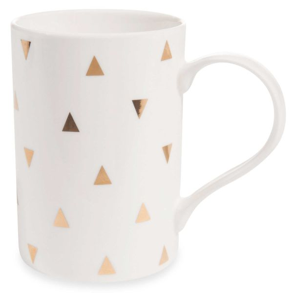 Mug motif triangles en porcelaine GOLD