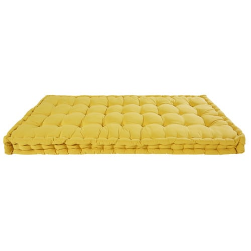 Mustard cotton mattress 90 x 190 cm