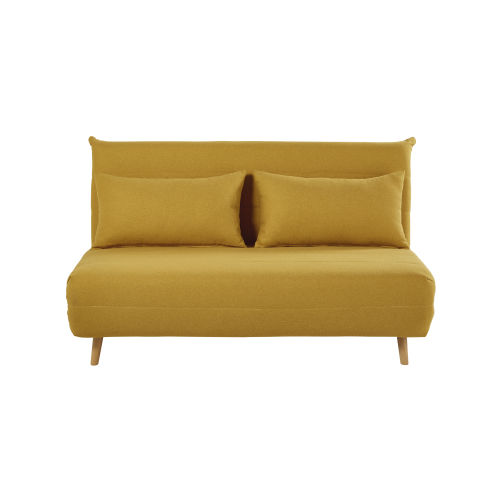 Dreipunkt Designer Leather Sofa Mustard Yellow Two Seat: Ice Blue Double Daybed Nio