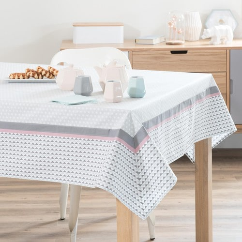 nappe enduite en coton 150 x 250 cm emma maisons du monde. Black Bedroom Furniture Sets. Home Design Ideas
