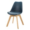 Navy Blue Scandinavian Chair with Solid Oak - Ice