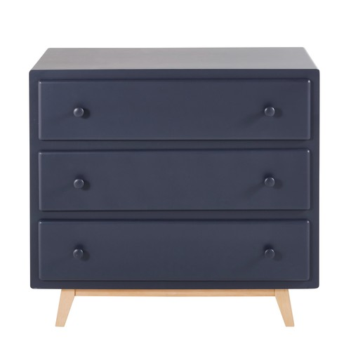 Navy Blue Vintage 3-Drawer Chest of Drawers