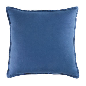 Navy Blue Washed Linen Cushion 45x45