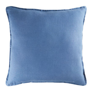Navy Blue Washed Linen Cushion 60x60