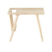 Oak End Table With Magazine Holder Oslo