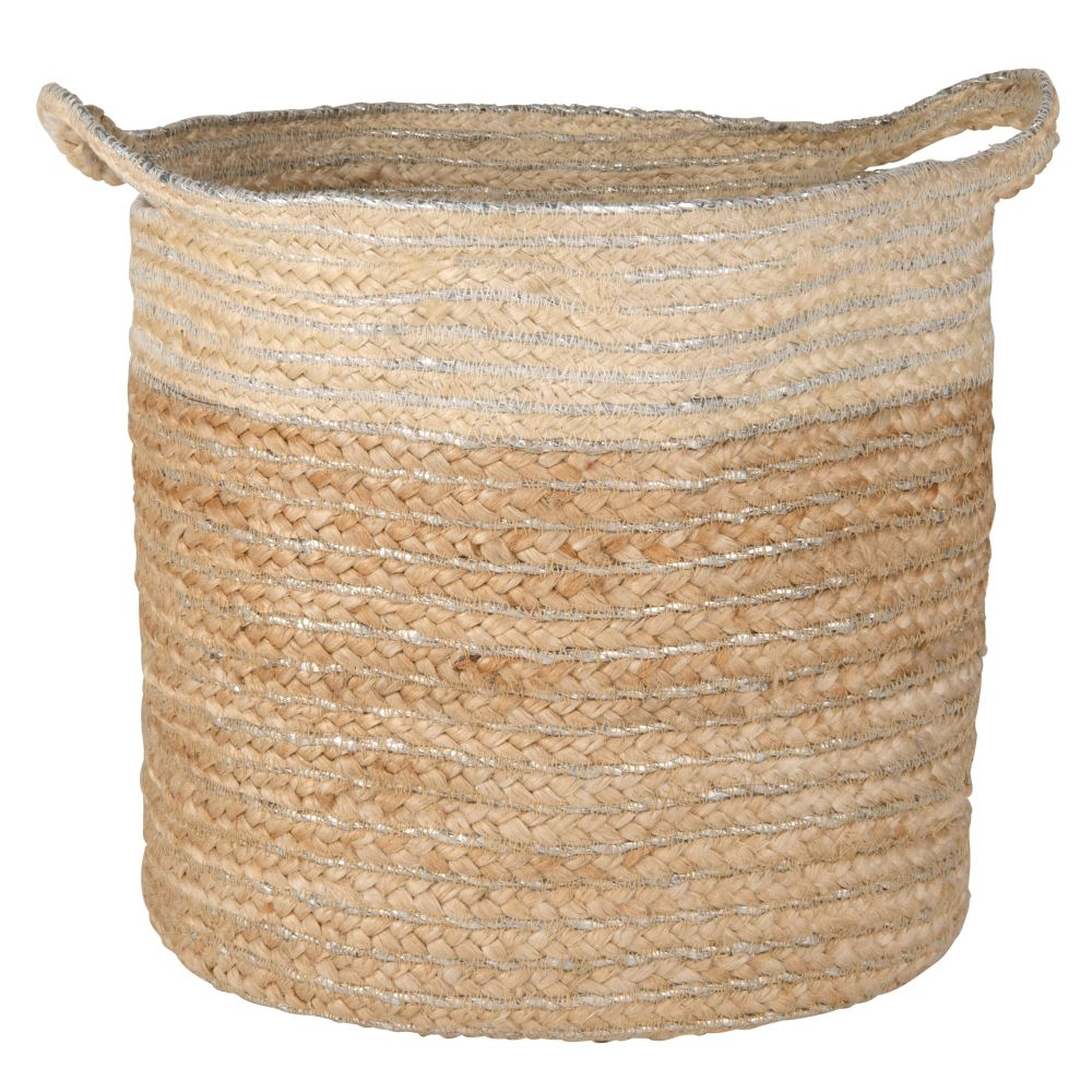 Panier en jute bicolore (photo)
