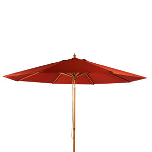 Parasol inclinable terracotta