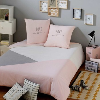parure de lit parures de lit en coton maisons du monde. Black Bedroom Furniture Sets. Home Design Ideas