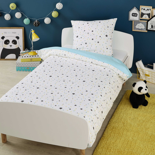 parure de lit enfant 140 x 200 cm en coton graphikids maisons du monde. Black Bedroom Furniture Sets. Home Design Ideas