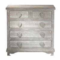 Paulownia Chest of 5 Drawers Camille