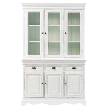 paulownia wood dresser in white w 124cm josphine - Kitchen Dresser