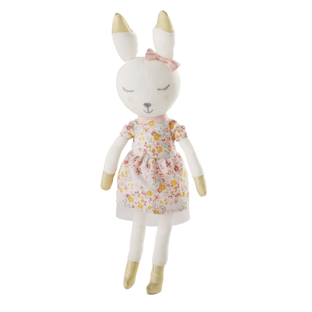 Peluche lapin en coton rose (photo)