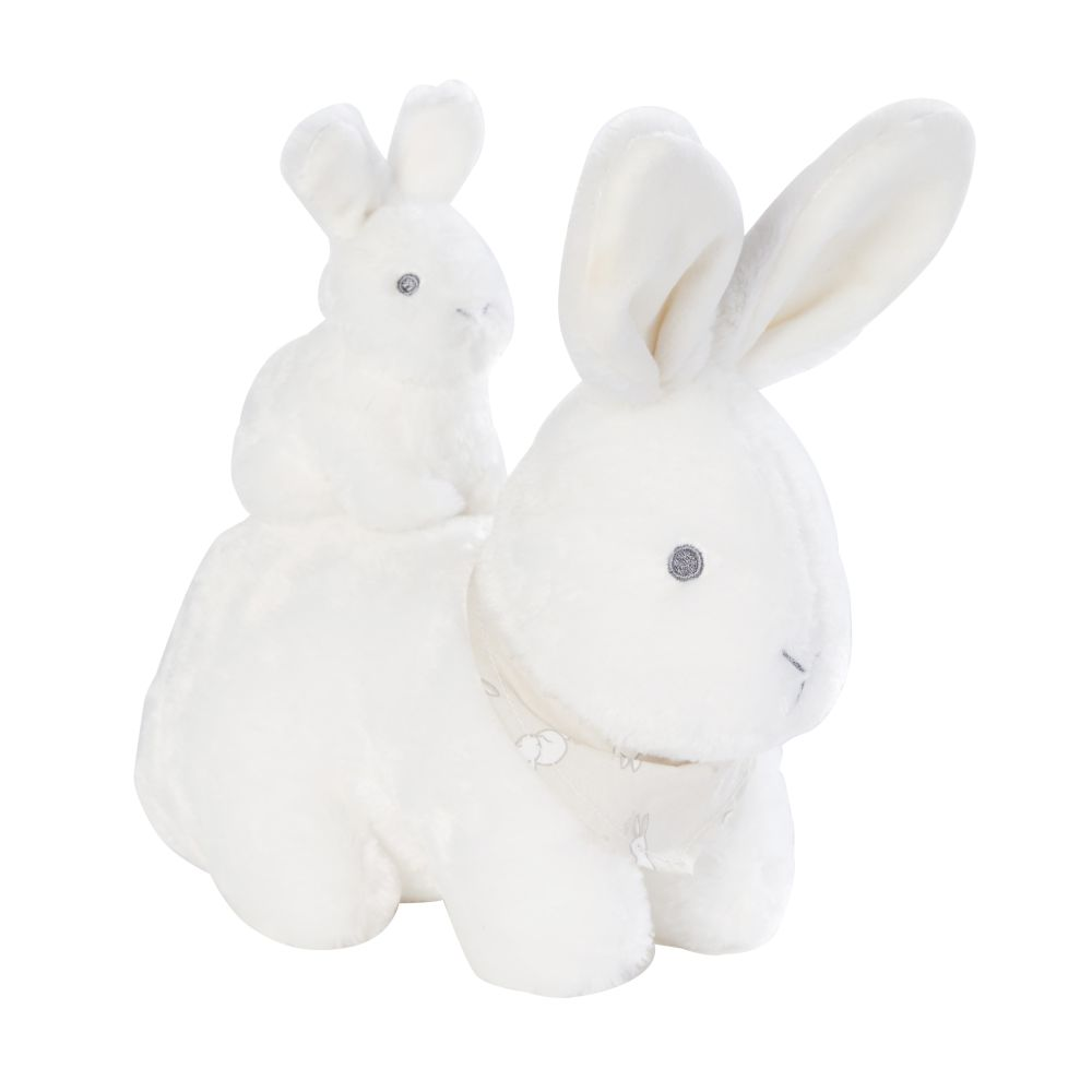 Peluche musicale lapin écrue (photo)