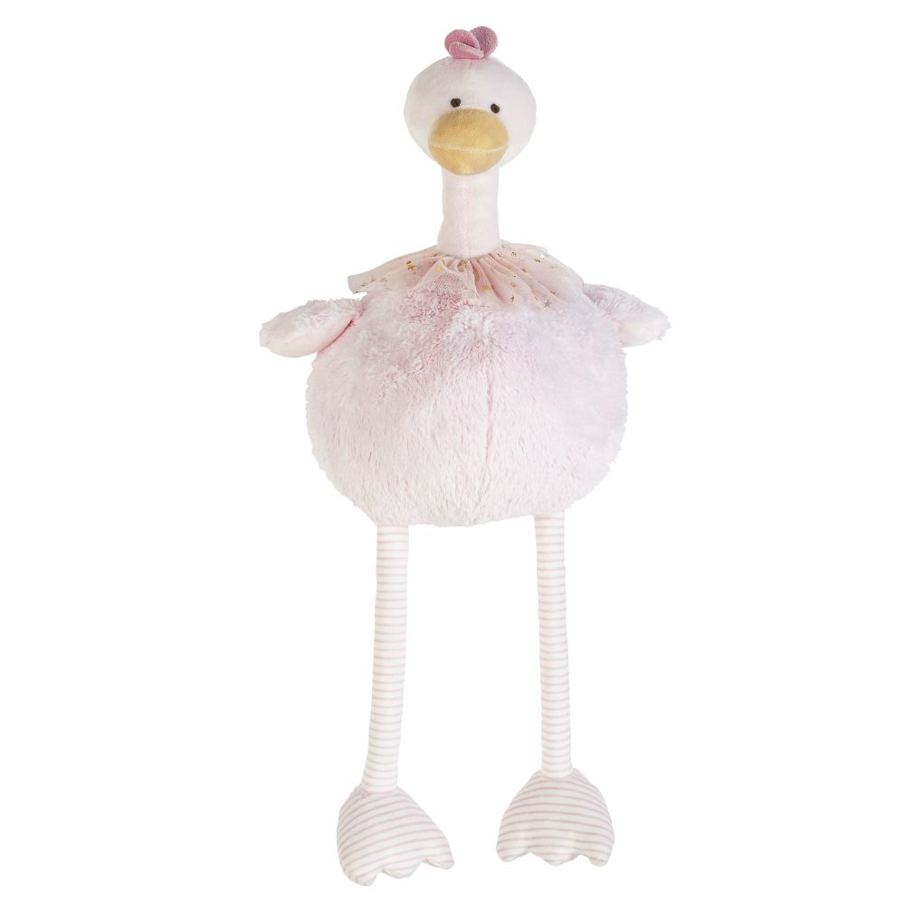 Peluche poulette rose (photo)