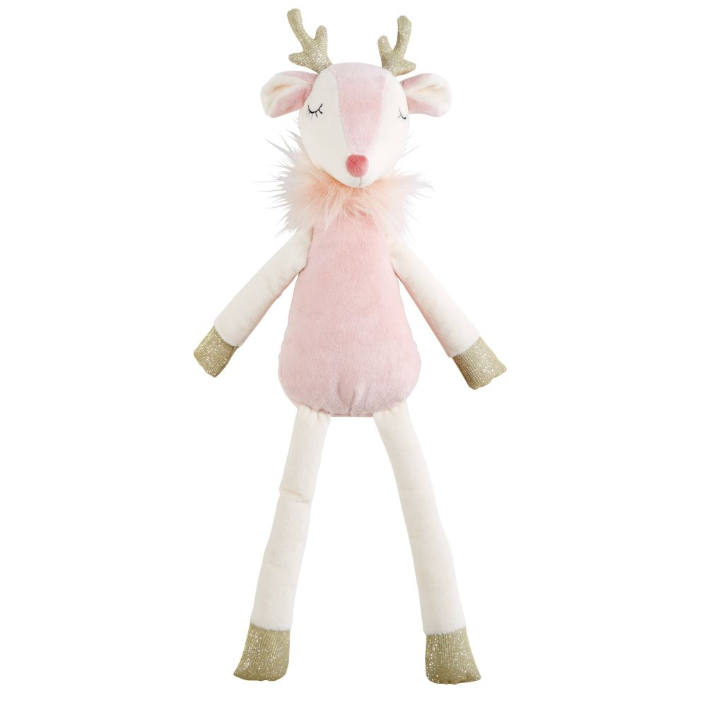 Peluche renne rose (photo)