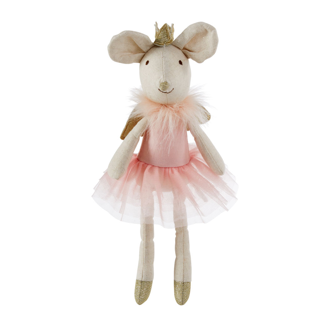 Peluche souris rose (photo)