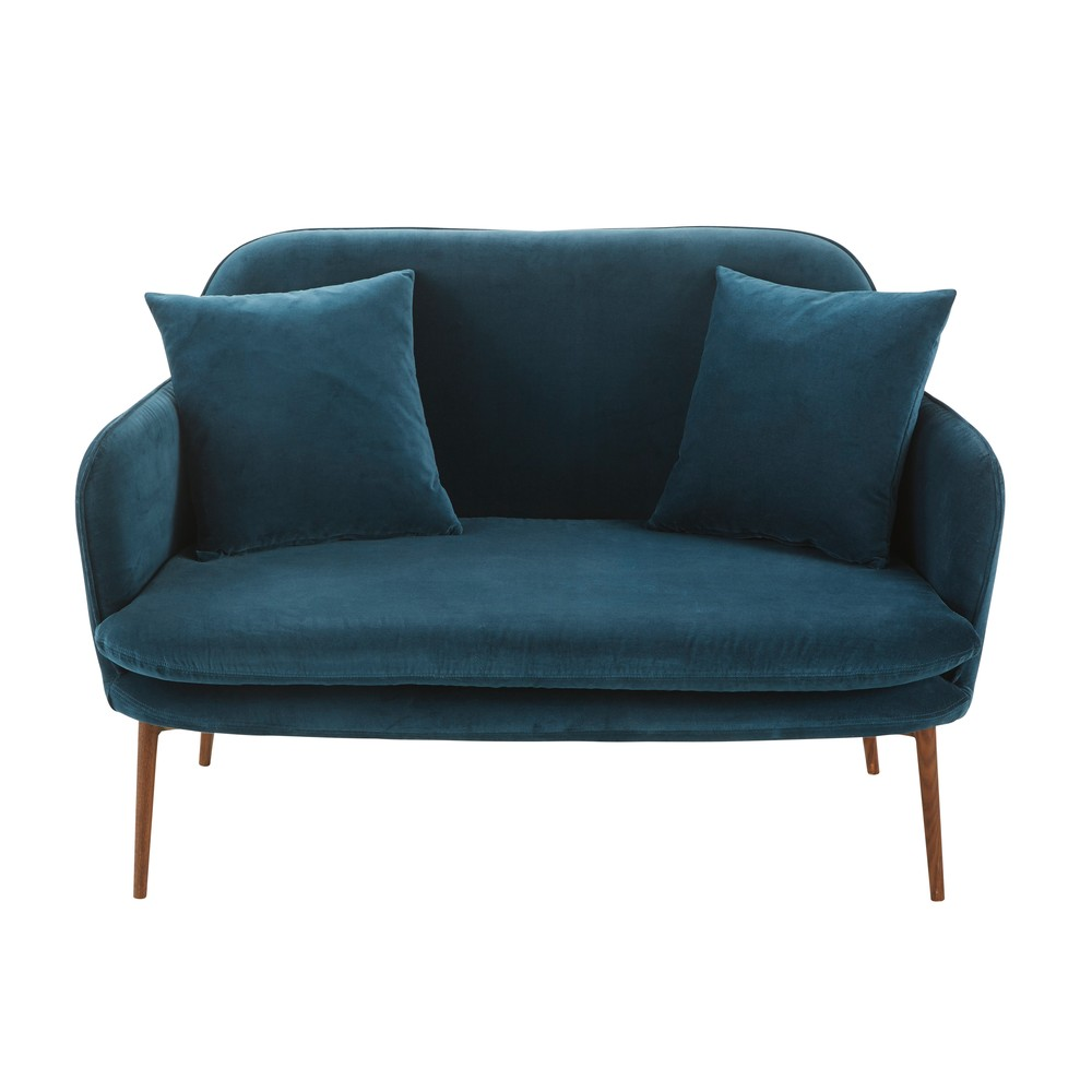 Petrol Blue 2 Seater Velvet Sofa Bench Sacha 459 00 Gay Times