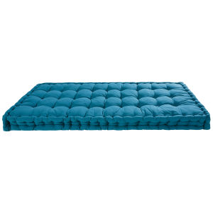 Petrol blue cotton mattress 90 x 190 cm